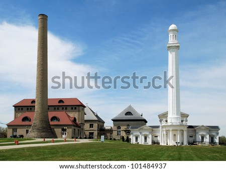 Located in Louisville, Kentucky / Rising Above - stock photo