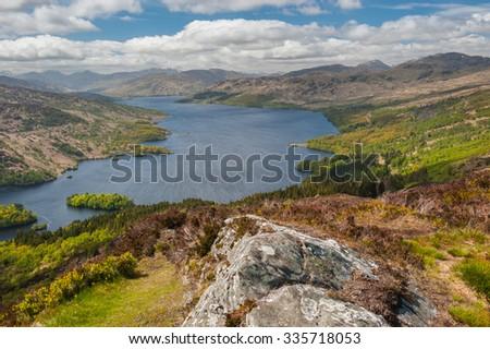 Loch Katrine, In the Trossachs National Park,Scottish, Highlands - stock photo