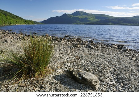 Loch Lomond & Ben Lomond. Argyll, Scotland - stock photo