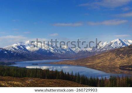 Loch Loyne, Scotland - stock photo