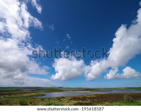 Loch of Stenness, Orkney Mainland, Scotland - stock photo