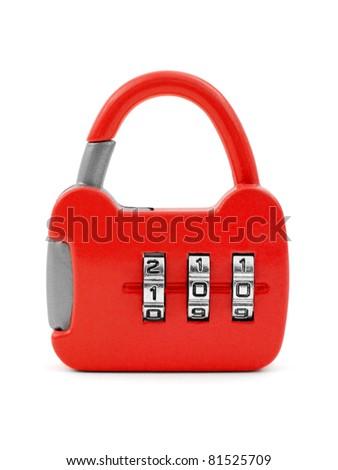 Lock like a handbag isolated on white background - stock photo