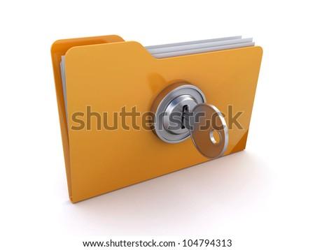 locked folder - stock photo