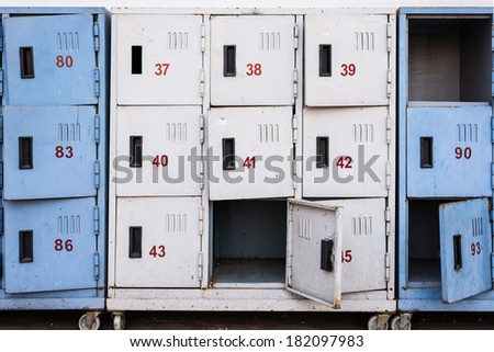 Locker in old condition - stock photo