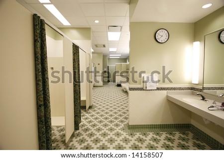Locker room for men or women - stock photo