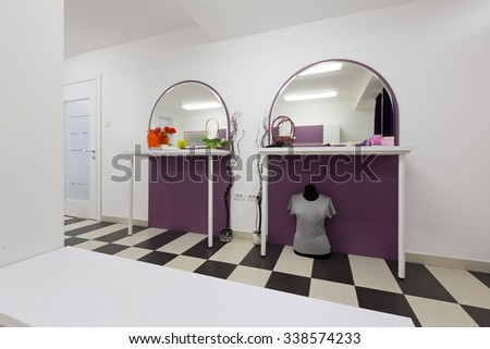 Locker room interior - stock photo