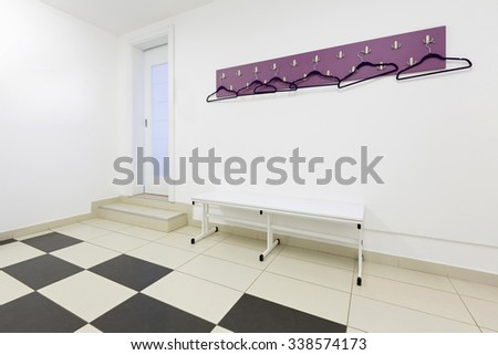Locker room interior design - stock photo