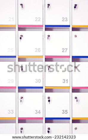 lockers  - stock photo