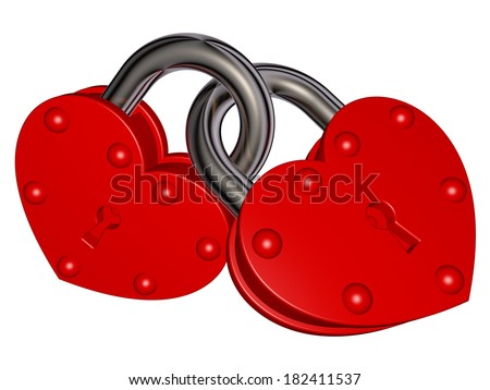 Locks of love - stock photo
