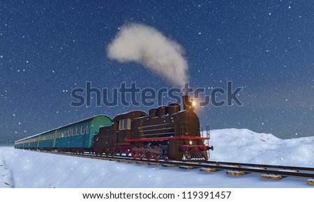 locomotive - stock photo
