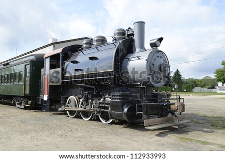 Locomotive for the Essex steam train which pulls tourists though the Connecticut River Valley - stock photo
