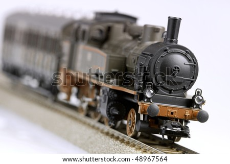 Locomotive miniature model - stock photo