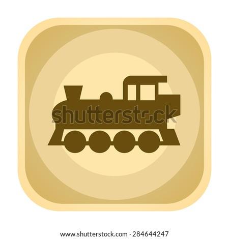 Locomotive vintage icon - stock photo