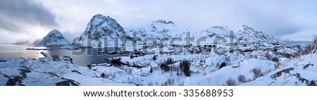 lofoten island - stock photo