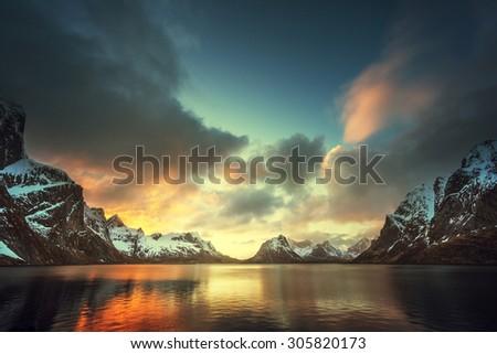 Lofoten islands, Norway - stock photo