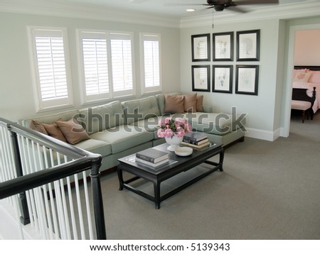 loft living area - stock photo