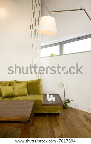 loft-living room - stock photo