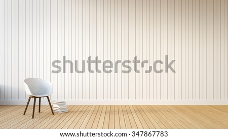Loft & Simple Living room / 3D Render Image - stock photo