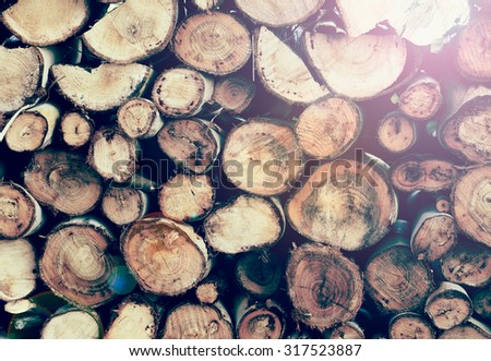 log texture background with lens flare - stock photo