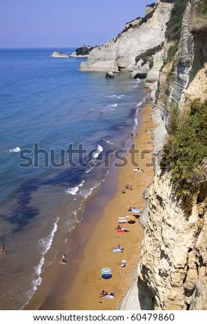 Loggas beach (Corfu, Greece) - stock photo