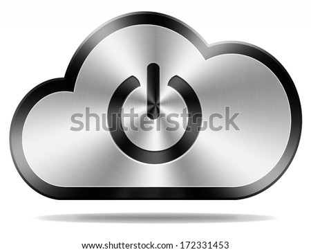 login cloud computing icon or button for private hybrid or community cloud - stock photo
