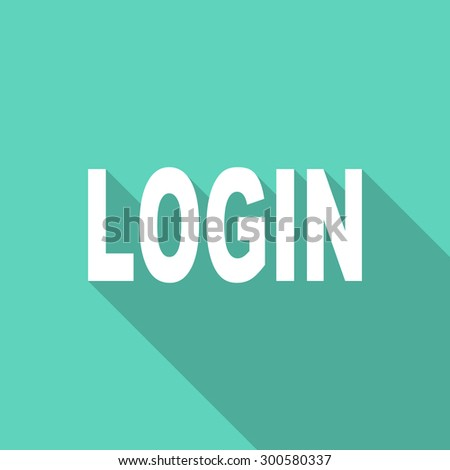 login flat design modern icon with long shadow for web and mobile app  - stock photo