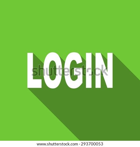 login flat icon  original modern design flat icon for web and mobile app with long shadow  - stock photo