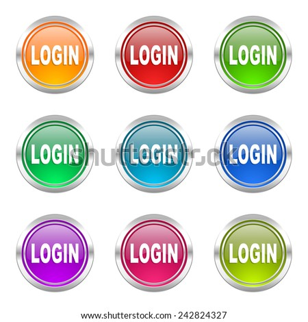 login icons set   - stock photo