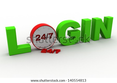 login time concept - stock photo