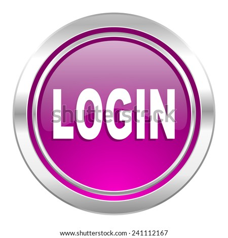 login violet icon   - stock photo