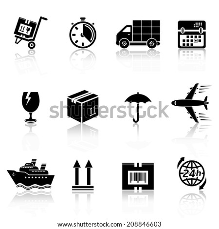Logistic icons - stock photo