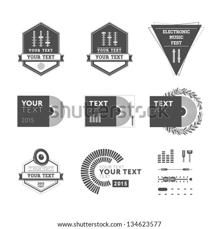 Logo set for events - stock photo