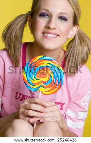 Lollipop Girl - stock photo