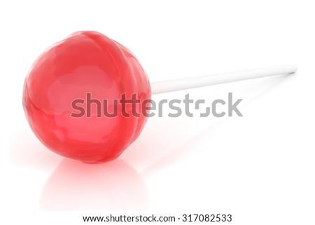Lollipop on white - stock photo