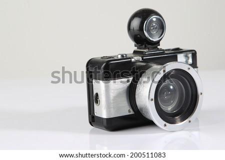 lomography camera isolated - stock photo