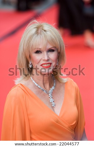 LONDON - 20 APRIL: Joanna Lumley Arrivals for the British Academy Television Awards 2008 at The Palladium on April 20, 2008 in London, England - stock photo