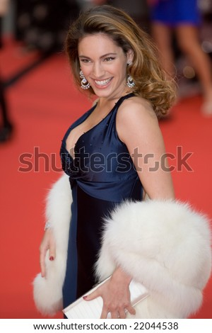 LONDON - 20 APRIL: Kelly Brook Arrivals for the British Academy Television Awards 2008 at The Palladium on April 20, 2008 in London, England - stock photo