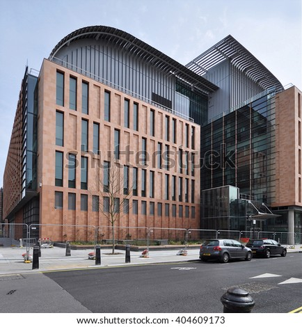 LONDON - APRIL 10, 2016. The Francis Crick Institute is a new biomedical research and innovation centre designed by HOK with PLP Architecture, opening soon in the Kings Cross area of London, UK. - stock photo