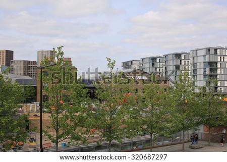 London - August 02, 2015: St. Pancras Square is the newest public square in London - stock photo