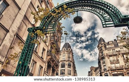 London, beautiful city buildings - stock photo