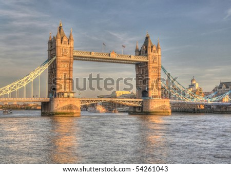 London Bridge HDR - stock photo