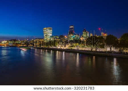 London by Night - stock photo