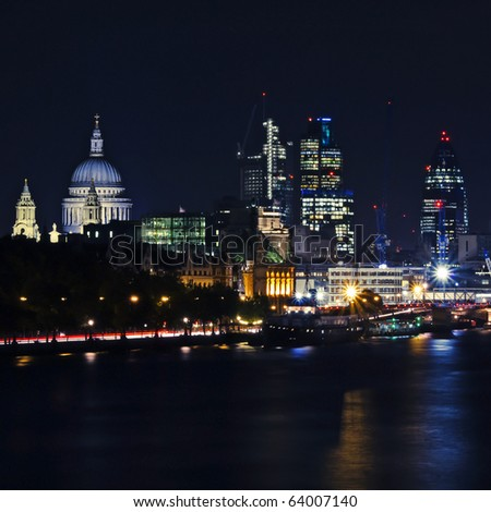 London by night. - stock photo