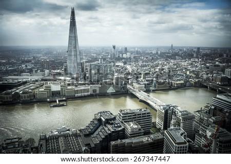 London cityscape - stock photo