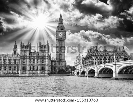 London, England. Famous landmark of United Kingdom capital. - stock photo