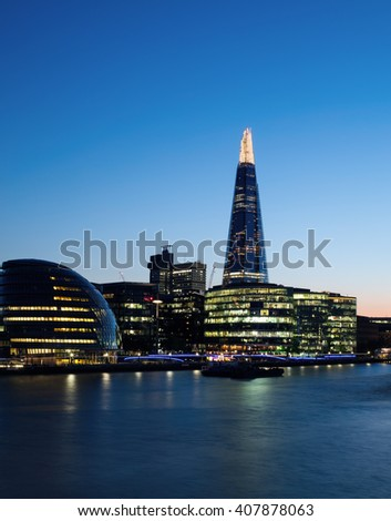 London evening sky - stock photo
