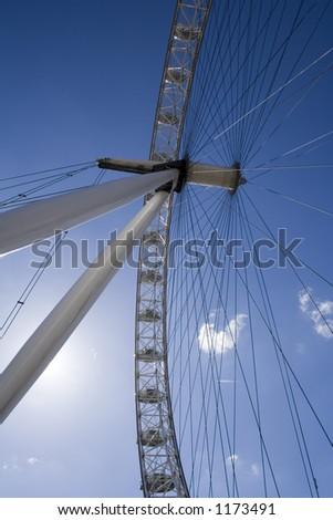 London eye Blue sky - stock photo