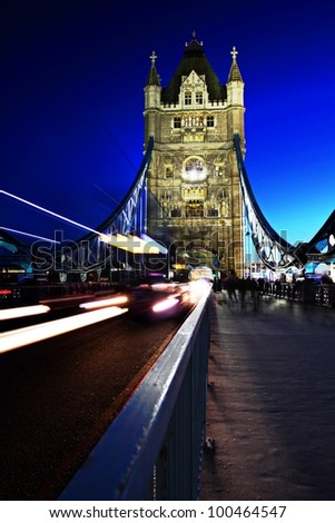 London in Motion - stock photo