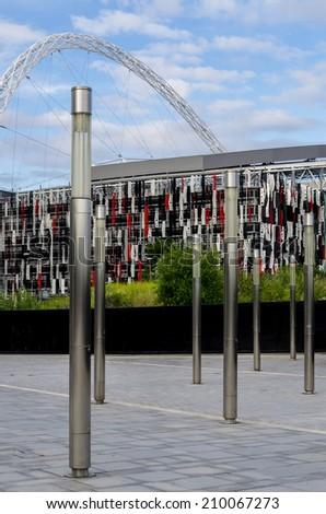 LONDON - JUly 5 : Wembley Stadium, London on July 05, 2014. - stock photo