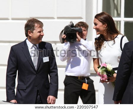 LONDON - JUN 10: Catherine, Duchess of Cambridge visit to the National Maritime Museum on Jun 10, 2014 in London - stock photo